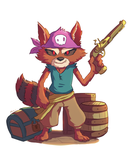 Rocket Racoon - Pirate Version by Marcos-A-Rodrigues