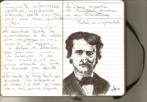 Poe in a Moleskine by sniDerJAO by urovoros
