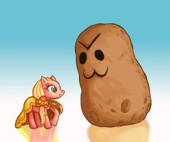 Pony and Potato by gaucelm