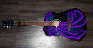 Tentacles on My Guitar - Purple by Ommin202