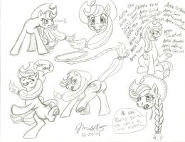 Applejack sketch dump by Scarecrow31