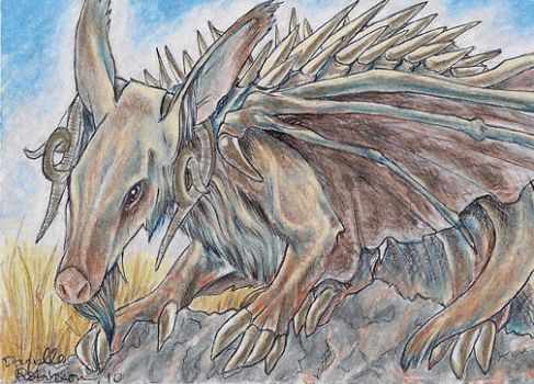 ACEO - Aardvark Dragon by seabird