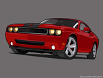 Dodge challenger SRT  Vector by DennisDW
