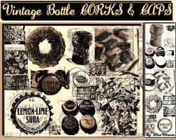 Vintage Bottle Corks and Caps by Diamara