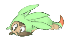 Chespin Banner by riolu-mewfan