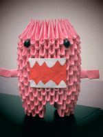 Pink Domo 3d Origami by meshell1129