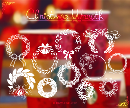 Christmas Wreath {Brushes} by Julieta7599