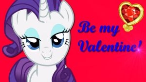Wallpaper Rarity Be my Valentine by Barrfind