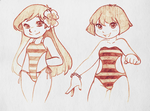 Lilo and Dora Swimsuit by CuteLittleLoli