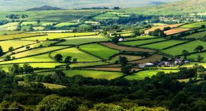 Green fields cover the land by LordLJCornellPhotos