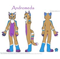 Andromeda fursuit concept by Lufca