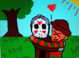 Jason and Freddy LOVE by Criss-Angel-lover