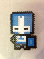 -Perler- Blue Knight by OtakuLuka
