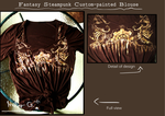 Fantasy Steampunk Custom-Painted Blouse by NinjaFerret22