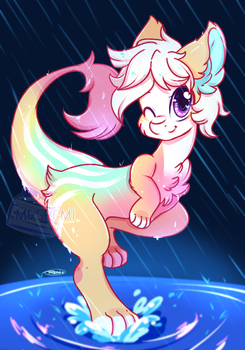 Step In The Puddle [Kintaur Paint Wars] by Remi-Adopt