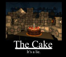 THE CAKE IS A LIE by Dog-Demon1462