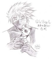kakashi sensei and pocchan by bluestraggler