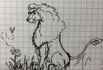 Lion and butterfly by Charismor