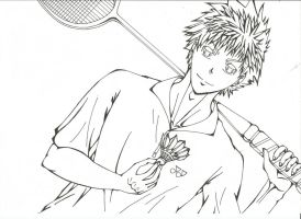 Time to play Badminton (Black and white version) by Setsky