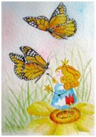 Butterfly princess b-day card by Coccis
