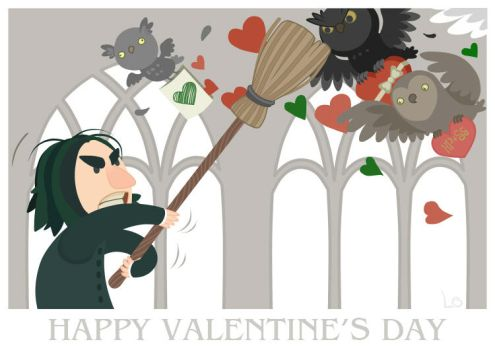 Happy Valentine's Day, Professor Snape by paranoiac-lo