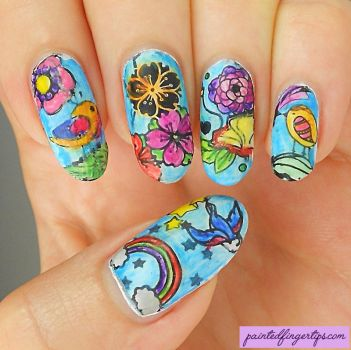 Nail-art-colouring-books by Painted-Fingertips