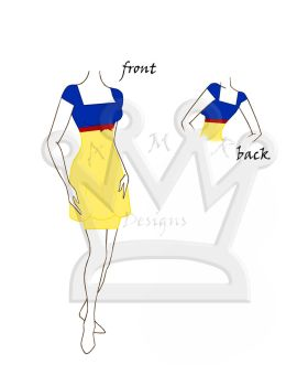 Snow White Dress by AMR-Designs