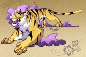 Chinese Tiger by IzaPug