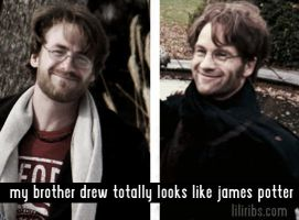 My Brother totally lookes like James Potter by liliribs