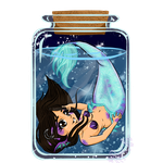 Mermaid Erica in a Bottle by MrsMiroku