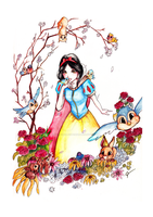 Among the Cherry Tree - Snow White by Corporal-Cupcake