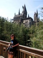 In Front of Hogwarts by BengalTiger4