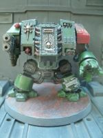 WH40K Space Marines Salamanders Dreadnought by raipo