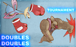 Cresselia and Conkeldurr Doubles Tournament by Kingtankone