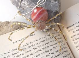 Gorgeous Beaded Christmas Spider Ornament by curiouscarrie