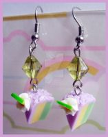 Lemon Cake Earrings by cherryboop