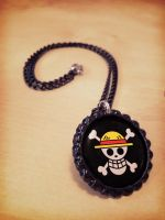 One Piece Straw Hat Pirates Flag Necklace by Monostache