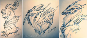 No 3 bust sketch collection by Acayth