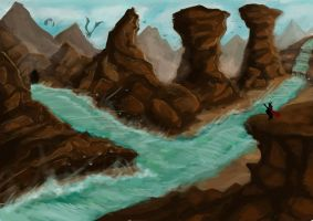 Cartooony Cliffy Area by TheNicerSplicer
