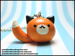 Round Foxpuff Necklace by GrandmaThunderpants