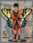 003 Butterfly Kimono Adopt [CLOSED] by ZebbsAdopts