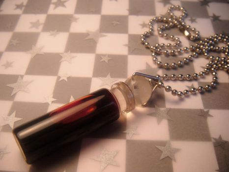 blood vial necklace by leggsXisXawsome