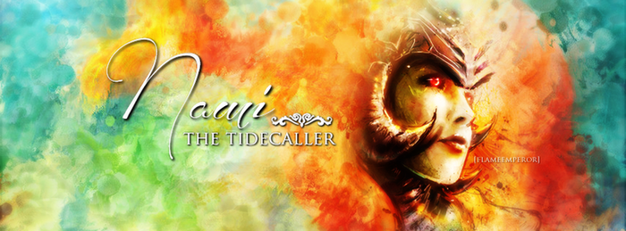 Nami, the Tidecaller Cover. by flammaimperatore