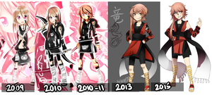 Original: RyuO 6 years of change by ThatlooserLulu