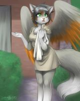 Hello sir my name is Amai at your service by Little-shewolf9