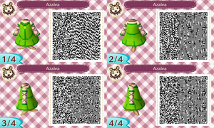 Azalea's Clothes: Animal Crossing New Leaf QR Code by TofaTheDragonRider