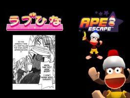 Love Hina Ape Escape by DeverexDrawer