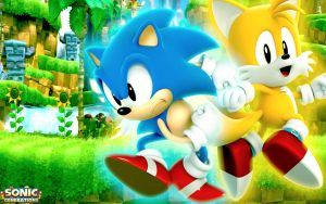 Classic Sonic And Classic Tails Wallpaper by SonicTheHedgehogBG