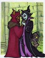 Odd Couple-Maleficent by peanutjester