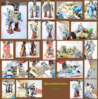 Lego MOCs: Minecraft Meta Golem: The Update by OhLookItsAnArtist
